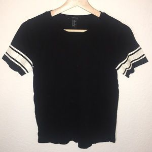 Forever 21 shirt with jersey strips on sleeves